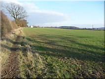 SJ4623 : Field edge footpath approaching Myddle by Jeremy Bolwell
