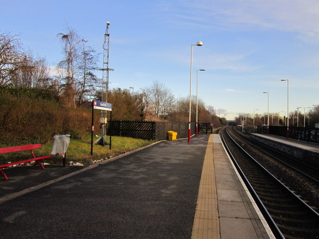Looking east from Garforth Railway Station
