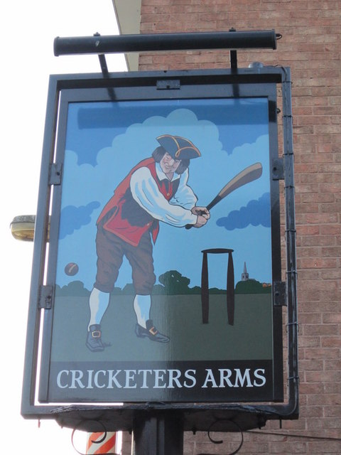 The sign for the Cricketers Arms, Selby