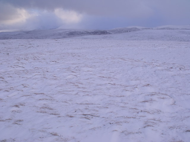On the north flanks of Uisge Dubh Poll a' Choin east of Bynack More