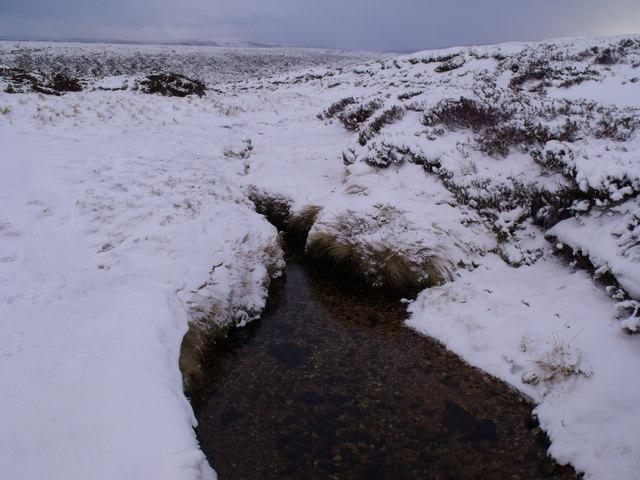 Liquid water in Caochan Odhar despite arctic conditions east of Bynack More