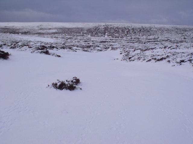 Snowed-up Caochan Odhar east of Bynack More