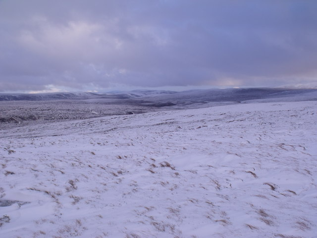 Slopes south-east of An Lurg near Glenmore