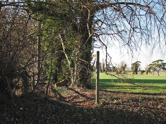 The start of a footpath