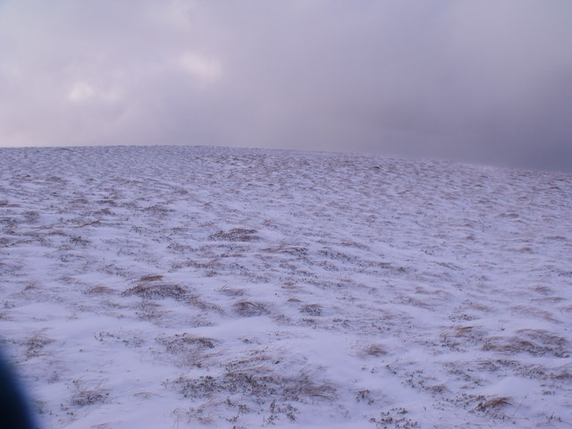 Wind-swept ridge south-east of An Lurg near Glenmore