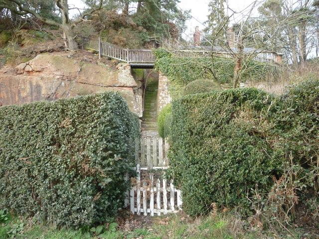 Rock cut path below 'The Nest', Webscott