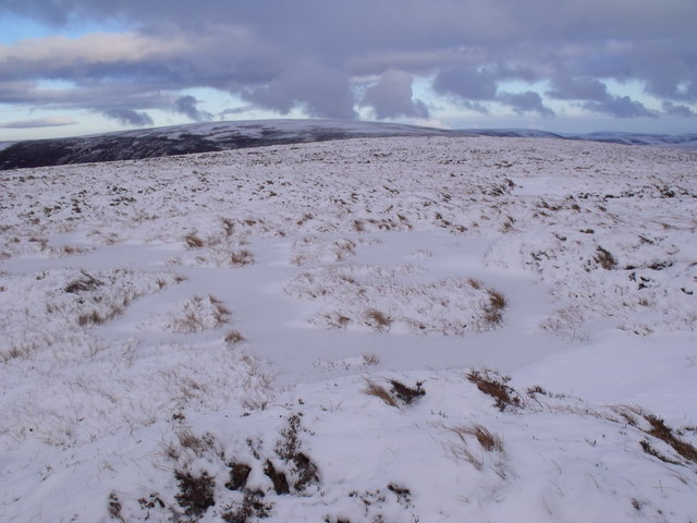 Looking along the broad ridge north-east of An Lurg near Glenmore