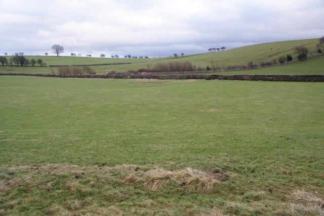 Flat fields below Moorber Hill