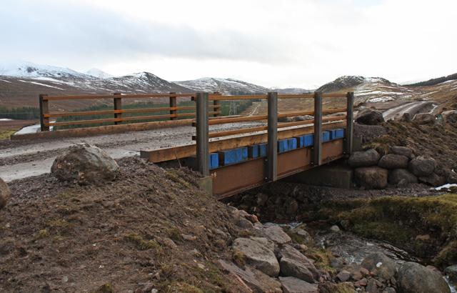 New bridge over Allt a Ghiubhais