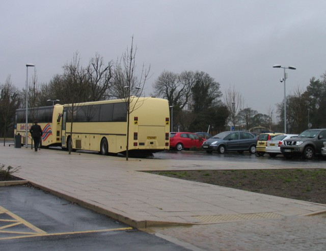 Bus park at Catmose College