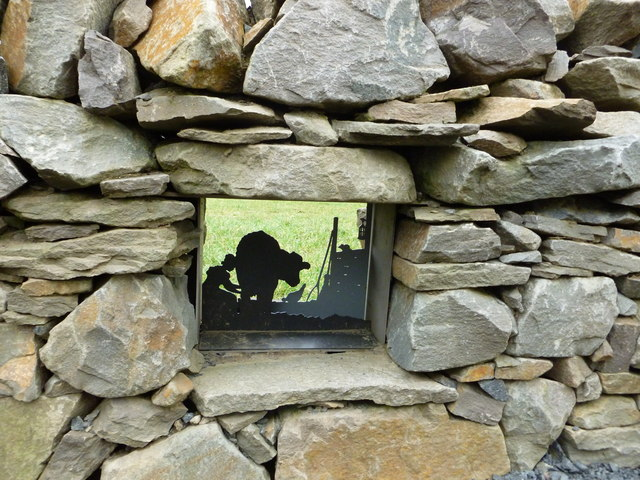 'Dry Stane' Wall Inlay - Burns Cottage, Alloway