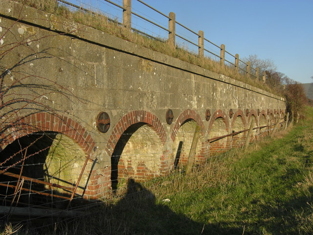 Row of floodwater relief arches at  Bere Marsh