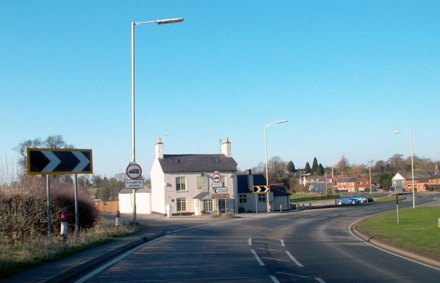 The A41 Through Grindley Brook