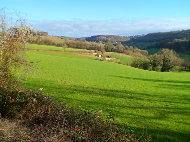 Slad valley viewed from the B4070