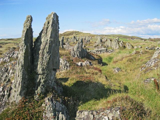 Rock pinnacles on Rubha na Cille