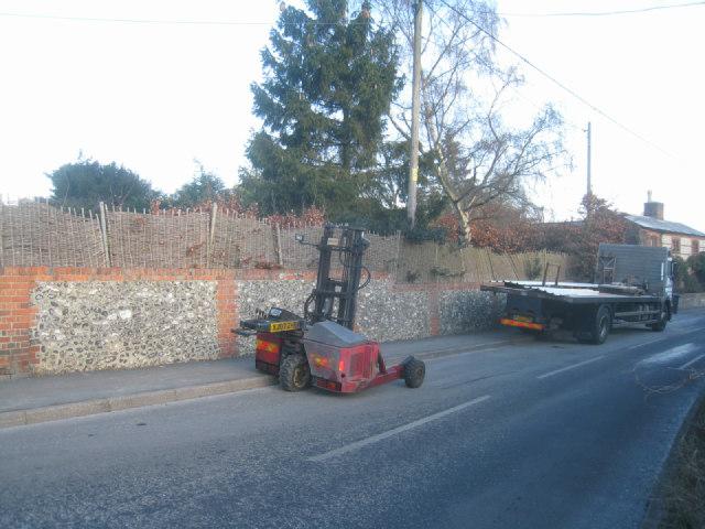 Building site delivery - Oakley Lane