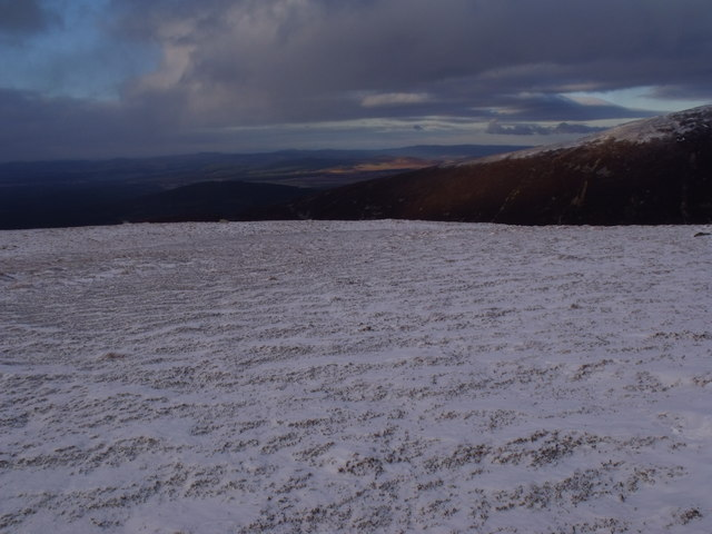 Low ridge high on An Lurg near Glenmore