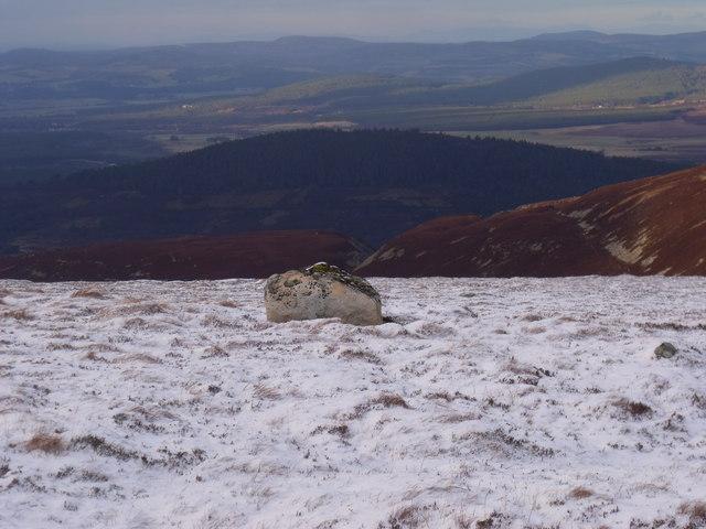 Solitary boulder on An Lurg near Glenmore