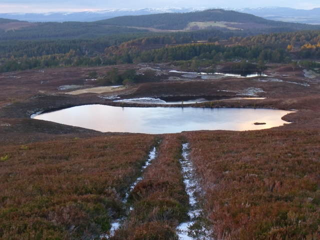 Morraine lochs at the foot of An Lurg near Glenmore