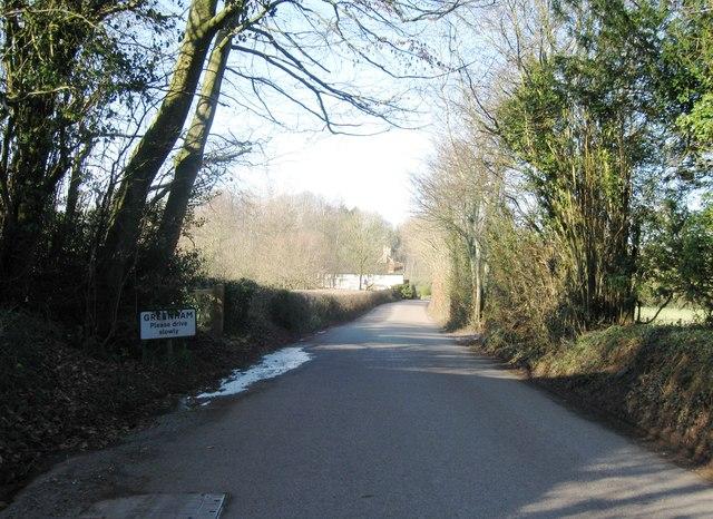 Entrance to Greenham