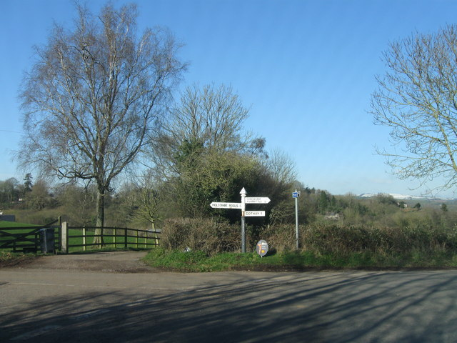 Country road junction