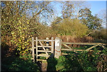 TR1859 : Gate on the path by the Great Stour by N Chadwick