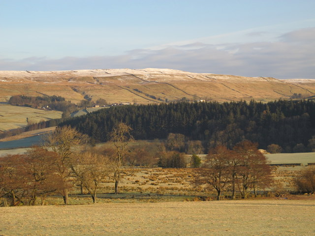 The valley of the River South Tyne east of Harbut Law