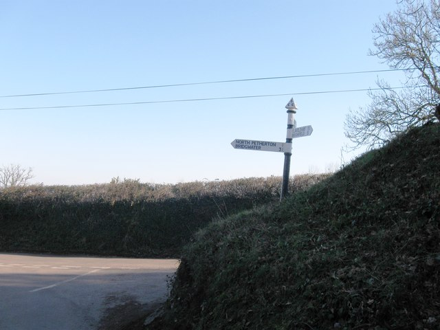 Road junction south of North Petherton