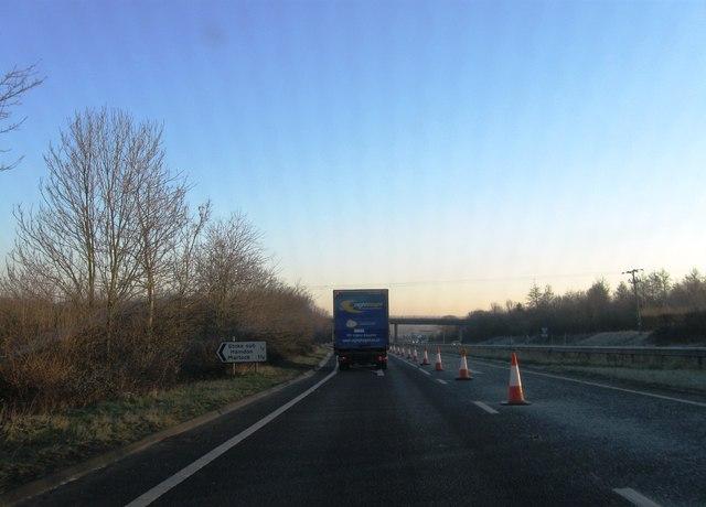 Turning for Stoke sub Hamdon, A303