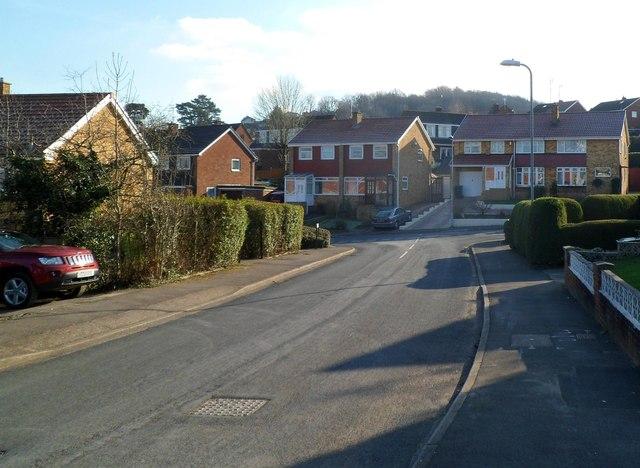 Larch Grove houses facing Birchgrove Close, Malpas, Newport