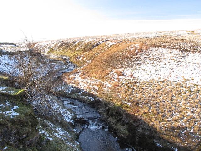 Gilderdale Burn downstream from Tutman's Hole