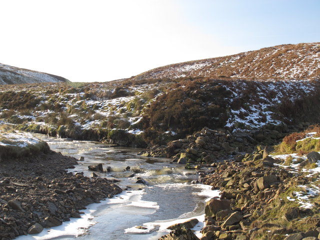 The confluence of Woldgill Bunn and Gildersdale Burn and