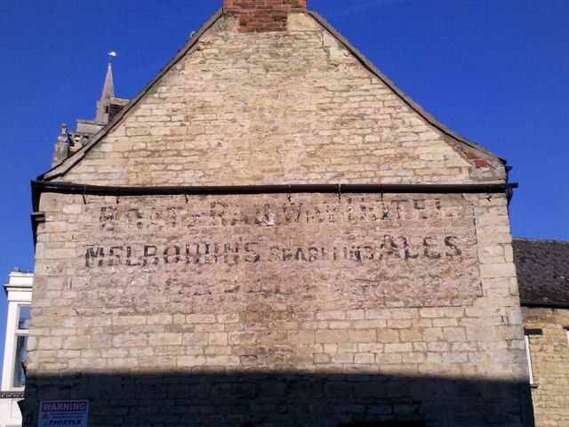 Faded wall signage