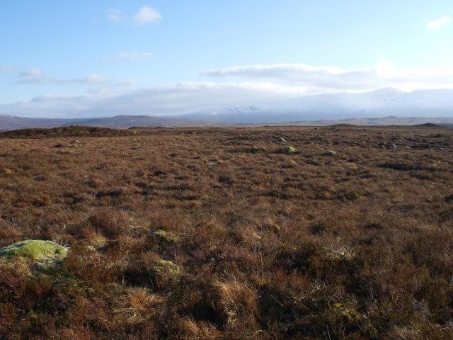 Typical terrain on Rannoch Moor