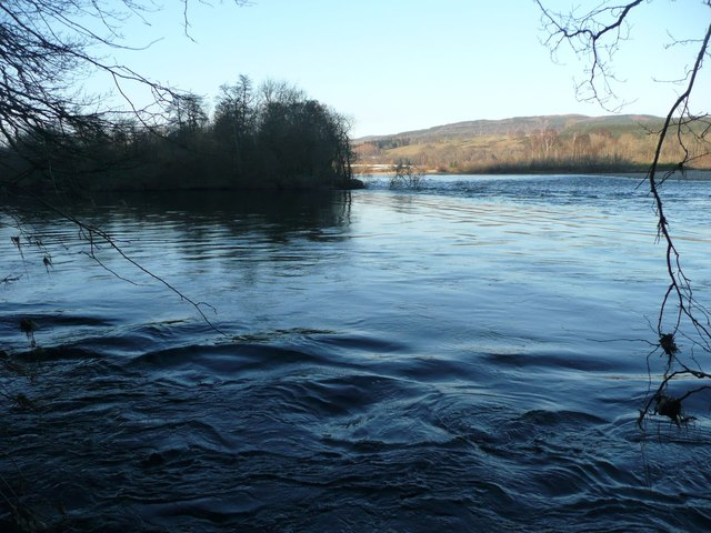 The confluence of the Rivers Tay and Tummel