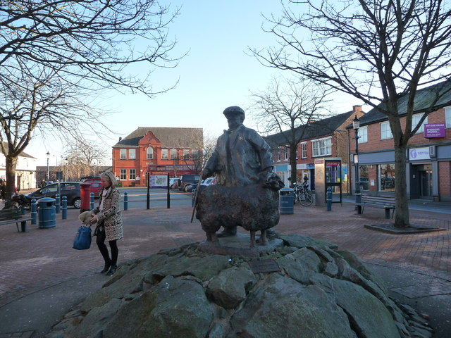 Statue in Festival Square, Oswestry