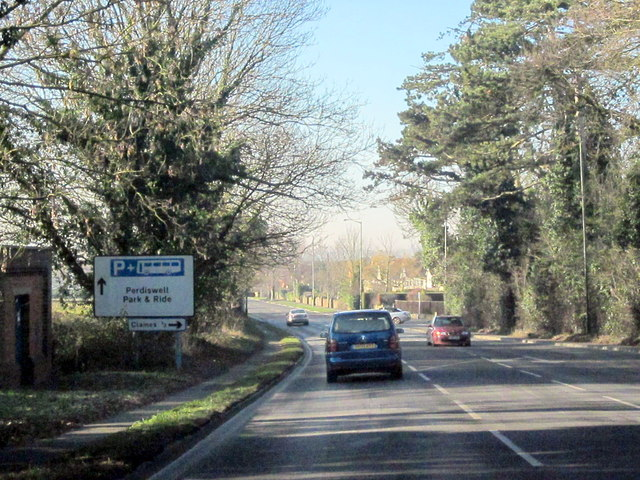 A38 Approaching Worcester, Claines Lane on Right