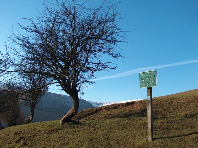 Footpath Sign - Alport right and Glossop left