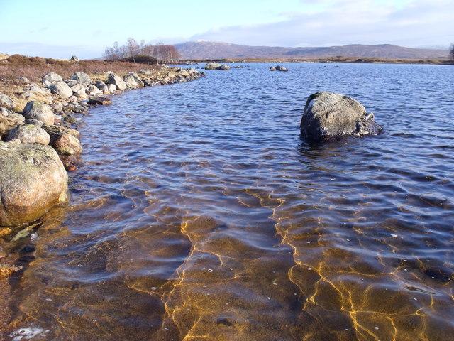 West shoreline of Loch Ba on Rannoch Moor