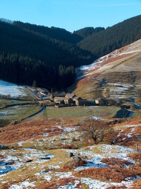 The hamlet of Alport from Little Moor