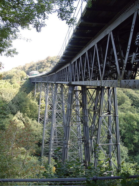 Meldon Viaduct From Viewing Platform under bridge