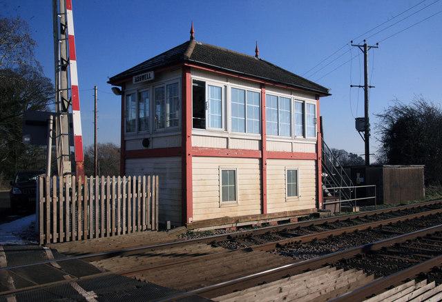 Ashwell signal box and crossing