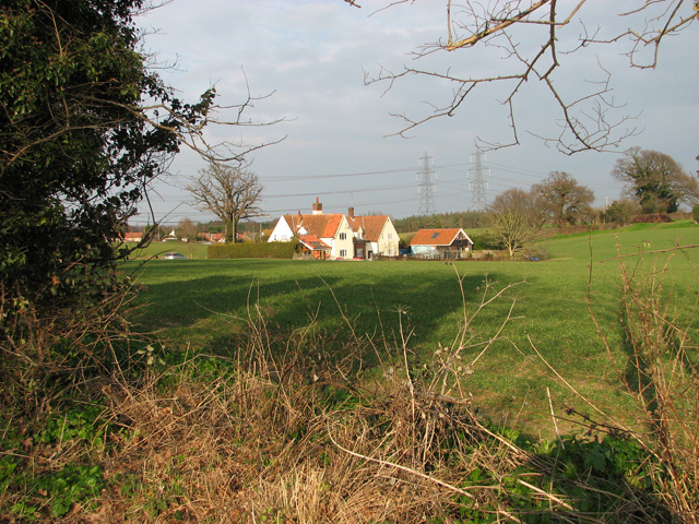 Cottages in Church Road, Blaxhall