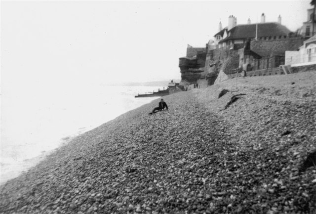 "Sidmouth pebble ""beach"""