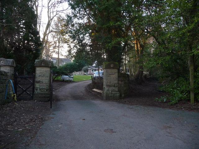 Old gateway pillars in Oswestry