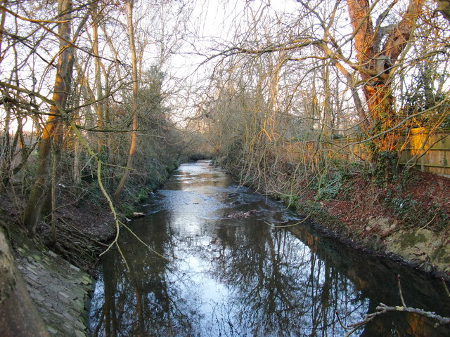 Beverley Brook by Palewell Common (3)