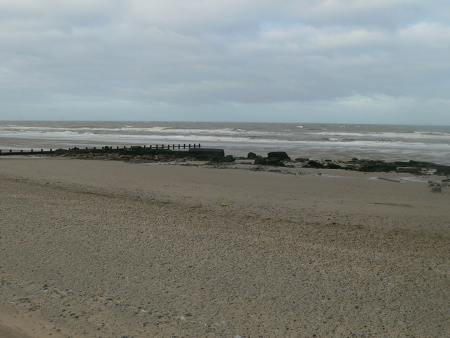 The beach between Rhyl and Prestatyn
