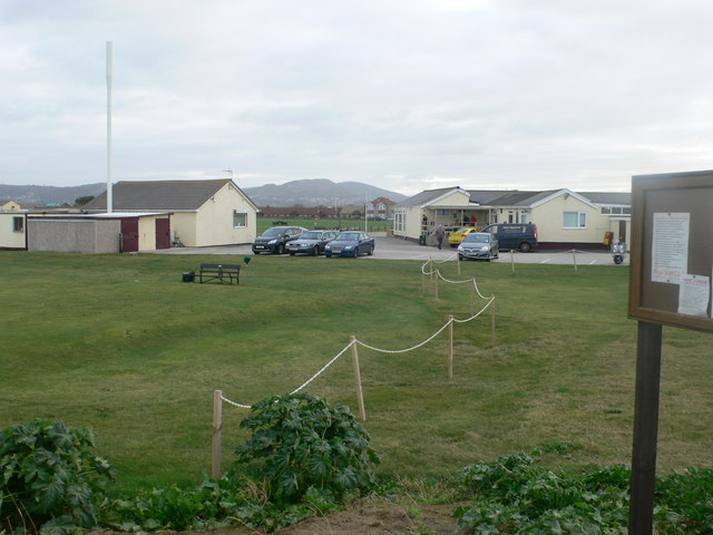 The clubhouse at Rhyl Golf Links