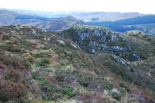 Rocky outcrop on Dùn Dubh