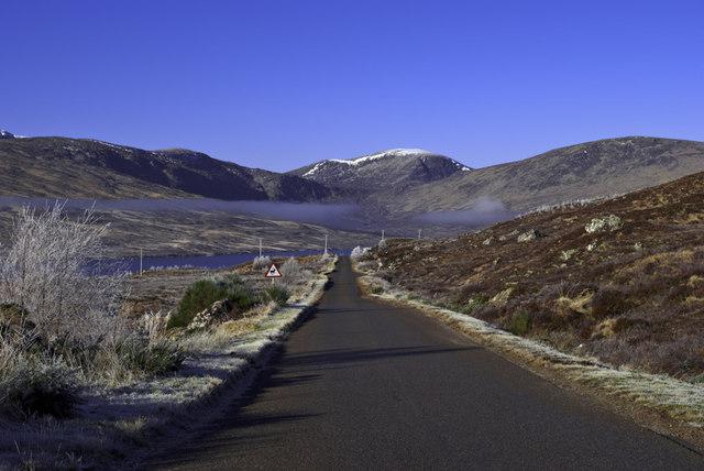 A838 by Upper Loch Shin